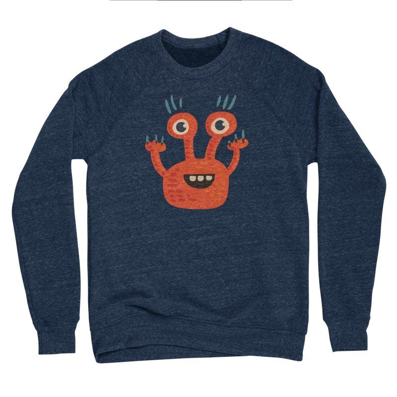 Funny Orange Monster Men's Sponge Fleece Sweatshirt by Boriana's Artist Shop