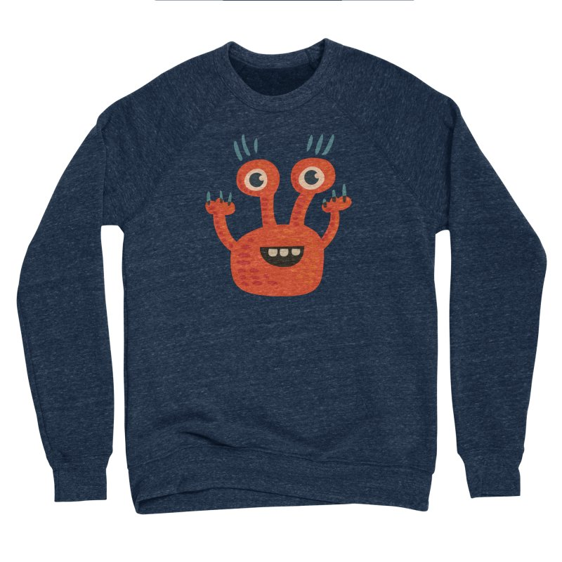 Funny Orange Monster Women's Sponge Fleece Sweatshirt by Boriana's Artist Shop