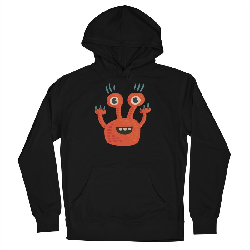 Funny Orange Monster Women's Pullover Hoody by Boriana's Artist Shop