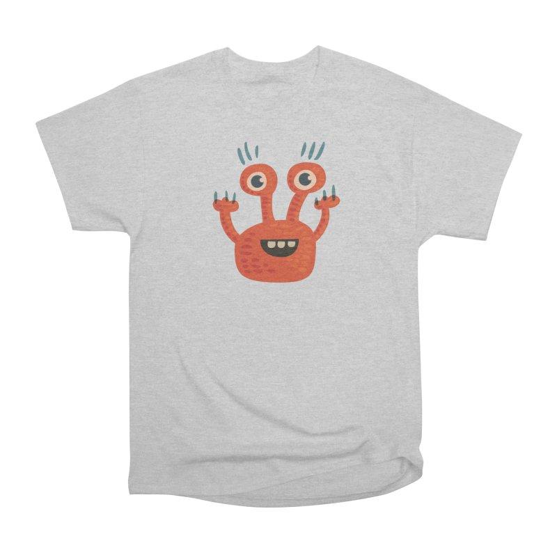 Funny Orange Monster Men's Heavyweight T-Shirt by Boriana's Artist Shop