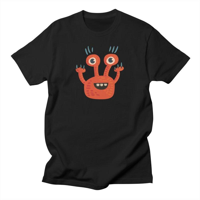 Funny Orange Monster Women's Regular Unisex T-Shirt by Boriana's Artist Shop