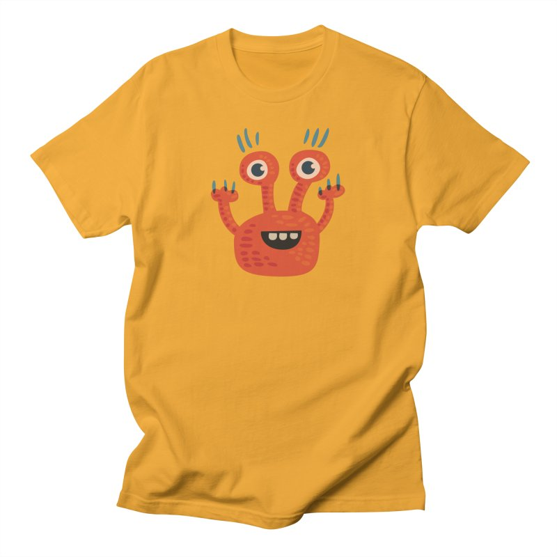 Funny Orange Monster Men's T-Shirt by Boriana's Artist Shop