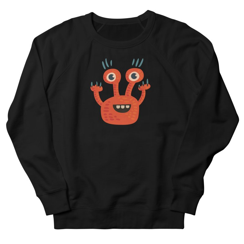 Funny Orange Monster Women's French Terry Sweatshirt by Boriana's Artist Shop