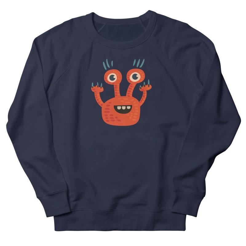 Funny Orange Monster Women's French Terry Sweatshirt by Boriana's Artist Shop