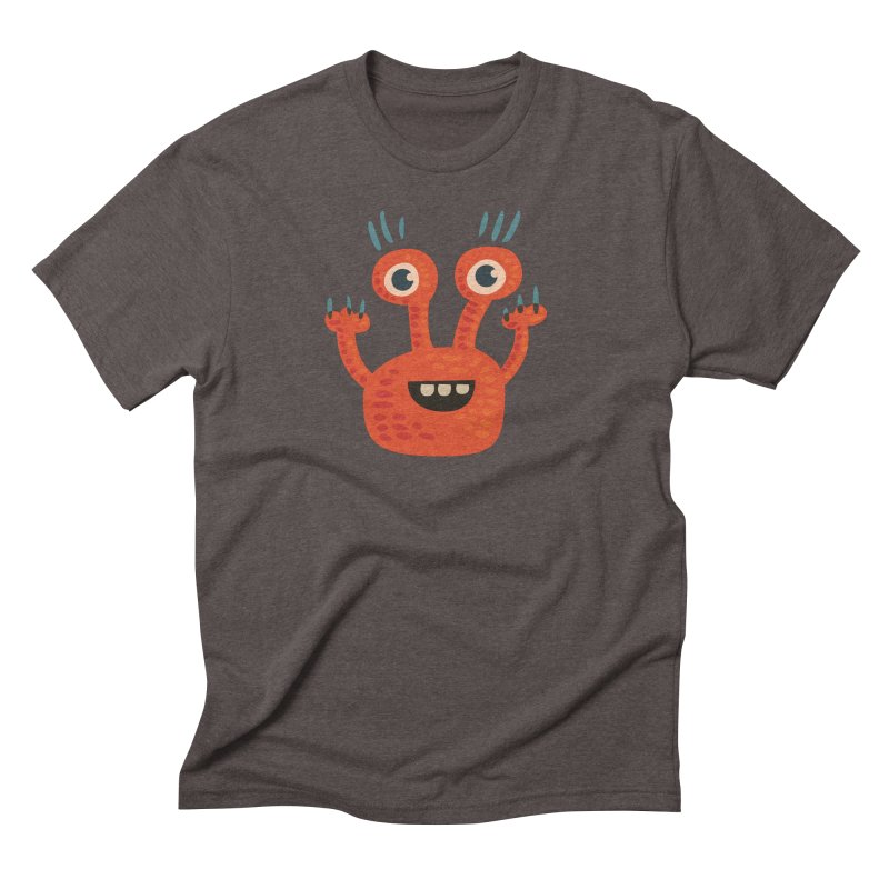 Funny Orange Monster Men's Triblend T-Shirt by Boriana's Artist Shop