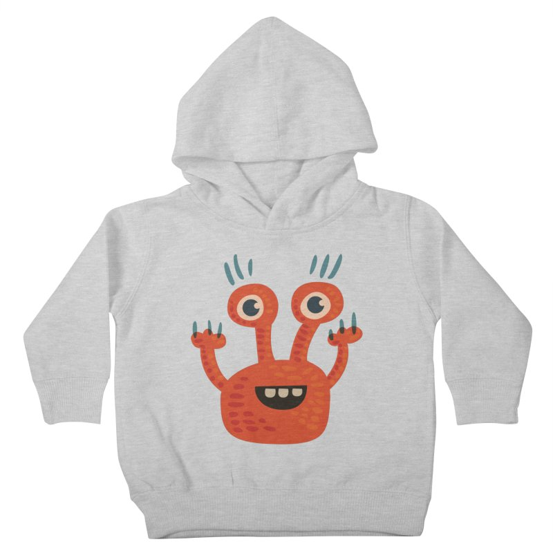 Funny Orange Monster Kids Toddler Pullover Hoody by Boriana's Artist Shop