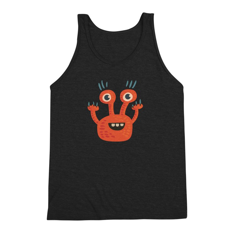 Funny Orange Monster Men's  by Boriana's Artist Shop