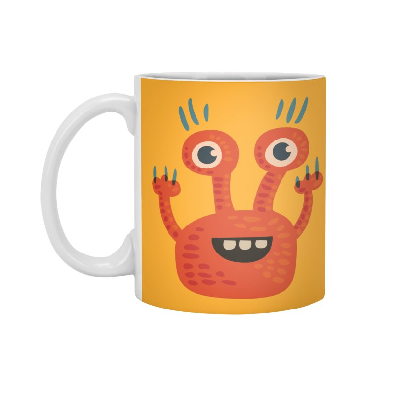 Funny Orange Monster Accessories Standard Mug by Boriana's Artist Shop