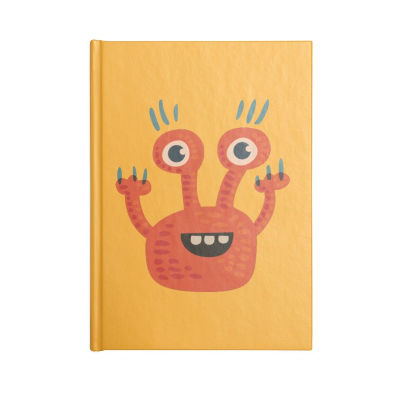 Funny Orange Monster Accessories Lined Journal Notebook by Boriana's Artist Shop