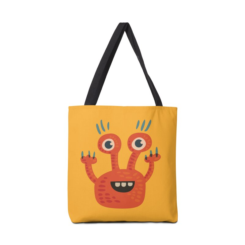 Funny Orange Monster Accessories Tote Bag Bag by Boriana's Artist Shop