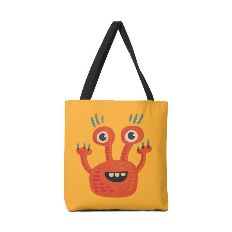 Funny Orange Monster Accessories Bag by Boriana's Artist Shop