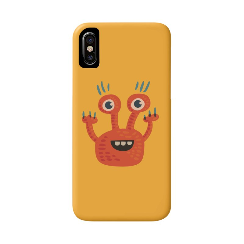 Funny Orange Monster Accessories Phone Case by Boriana's Artist Shop