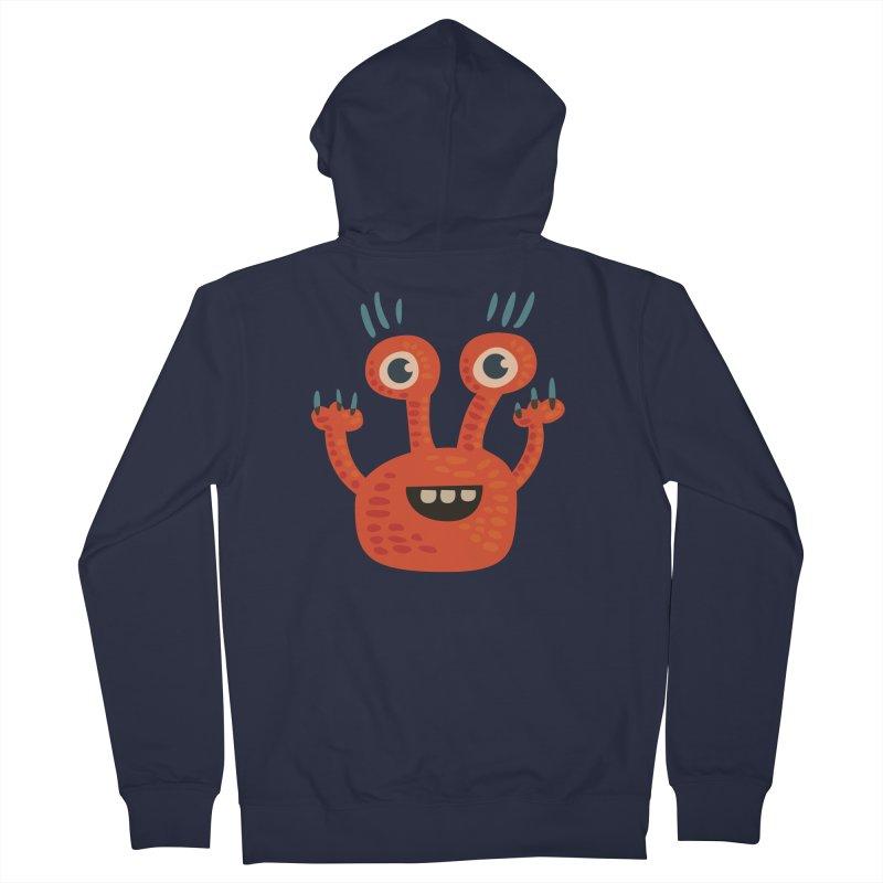 Funny Orange Monster Women's Zip-Up Hoody by Boriana's Artist Shop