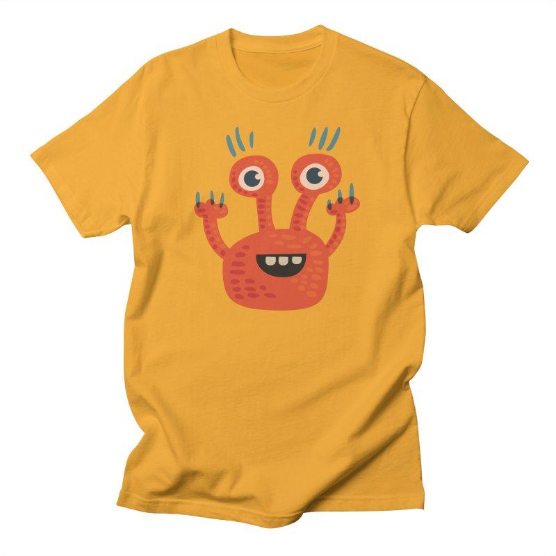 Funny Orange Monster Women's T-Shirt by Boriana's Artist Shop
