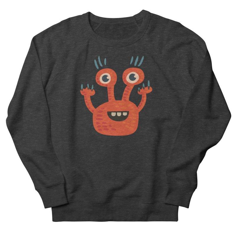 Funny Orange Monster Women's Sweatshirt by Boriana's Artist Shop