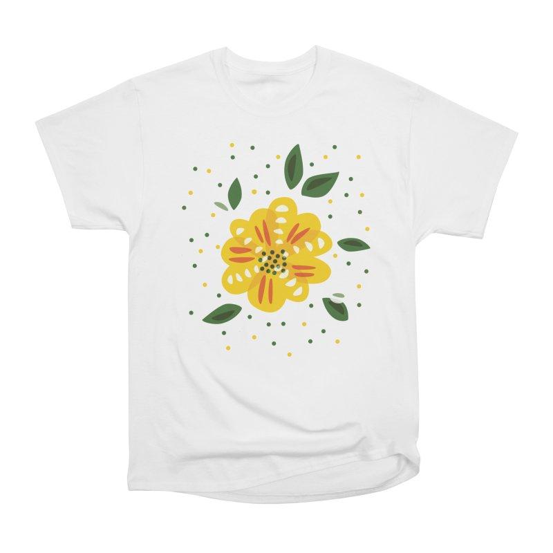 Abstract Yellow Primrose Flower Women's T-Shirt by Boriana's Artist Shop