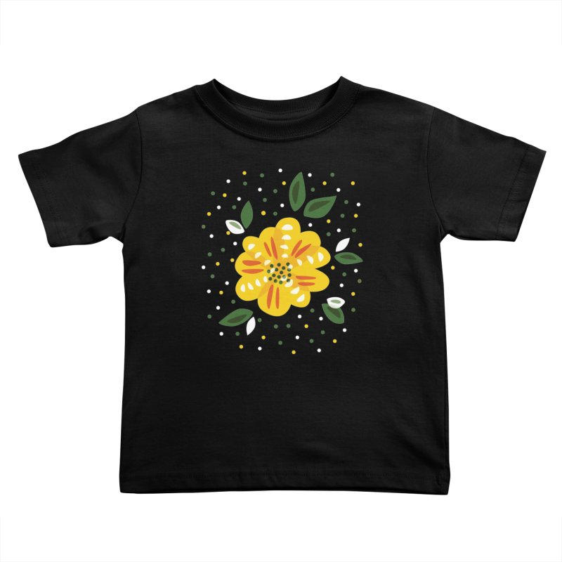 Abstract Yellow Primrose Flower Kids Toddler T-Shirt by Boriana's Artist Shop