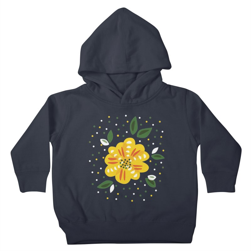 Abstract Yellow Primrose Flower Kids Toddler Pullover Hoody by Boriana's Artist Shop
