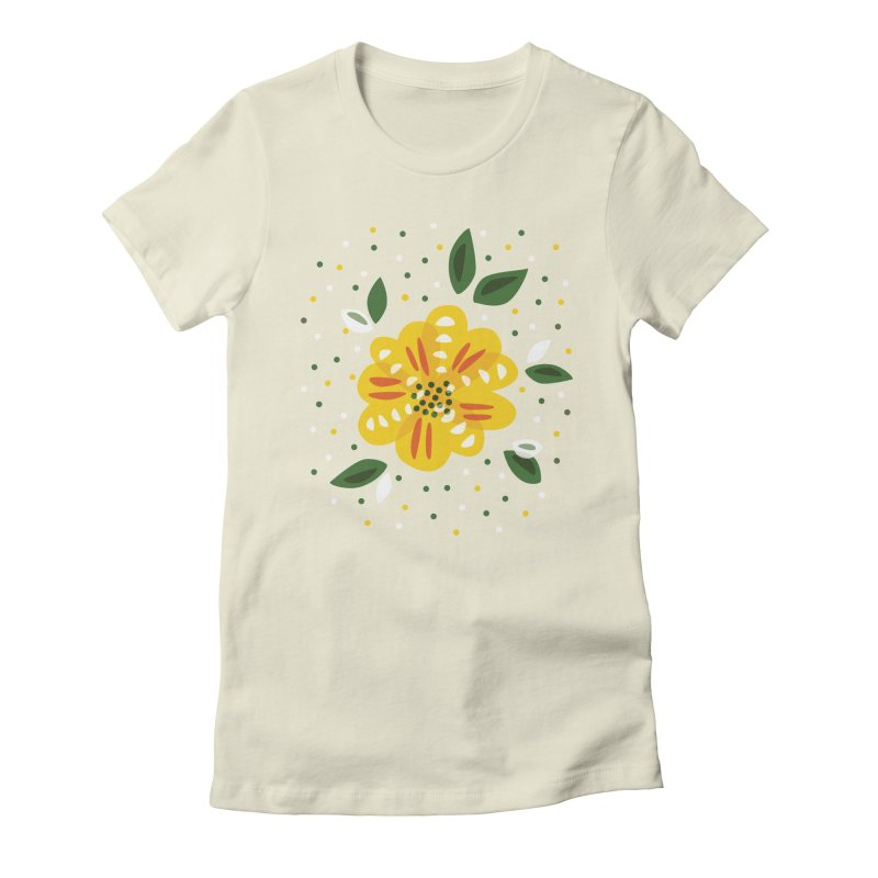 Abstract Yellow Primrose Flower Women's  by Boriana's Artist Shop