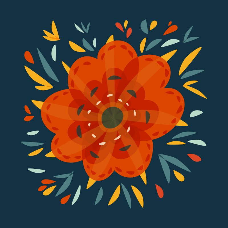 Decorative Orange Flower by Boriana's Artist Shop