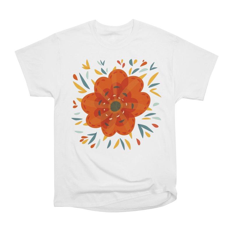 Decorative Orange Flower Women's T-Shirt by Boriana's Artist Shop