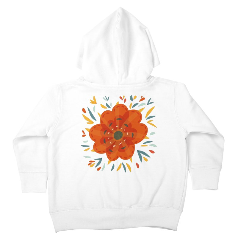 Decorative Orange Flower Kids Toddler Zip-Up Hoody by Boriana's Artist Shop