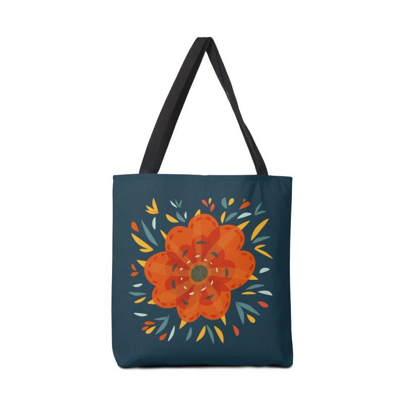 Decorative Orange Flower Accessories Tote Bag Bag by Boriana's Artist Shop