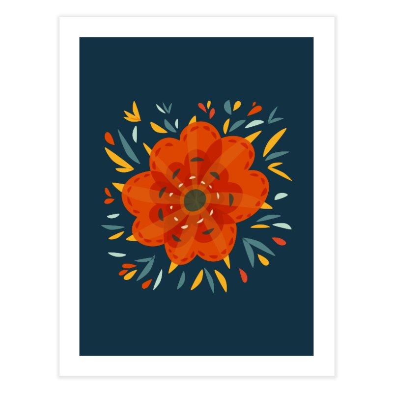 Decorative Orange Flower Home Fine Art Print by Boriana's Artist Shop