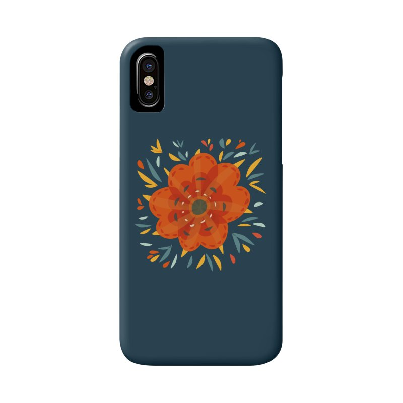 Decorative Orange Flower Accessories Phone Case by Boriana's Artist Shop
