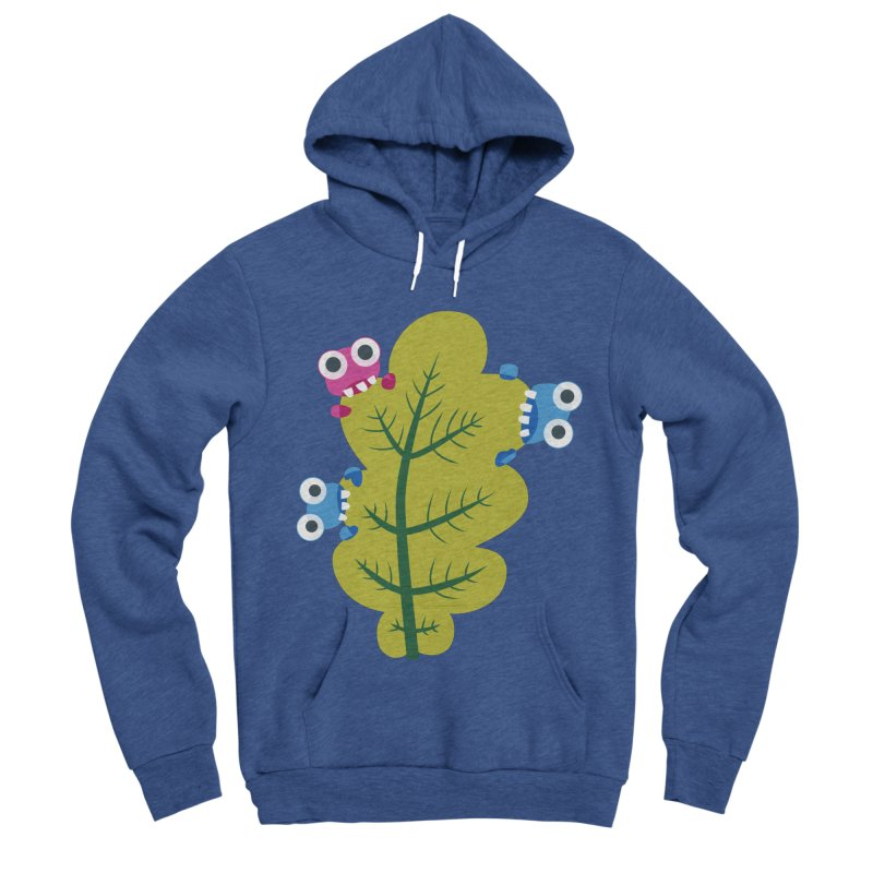 Cute Green Leaf Eaters Women's Sponge Fleece Pullover Hoody by Boriana's Artist Shop