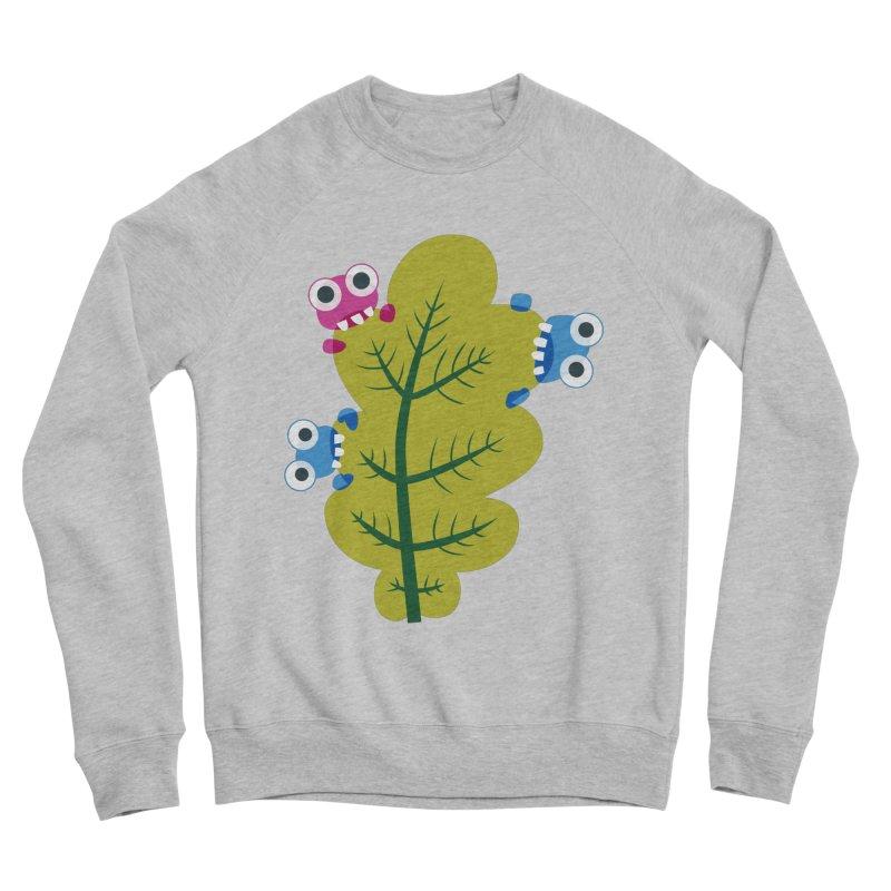 Cute Green Leaf Eaters Men's Sponge Fleece Sweatshirt by Boriana's Artist Shop