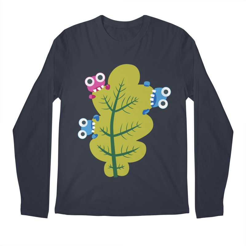 Cute Green Leaf Eaters Men's Regular Longsleeve T-Shirt by Boriana's Artist Shop