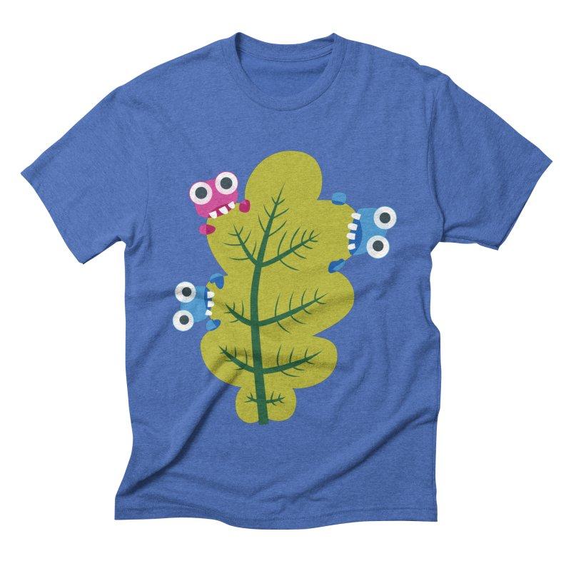 Cute Green Leaf Eaters Men's Triblend T-Shirt by Boriana's Artist Shop