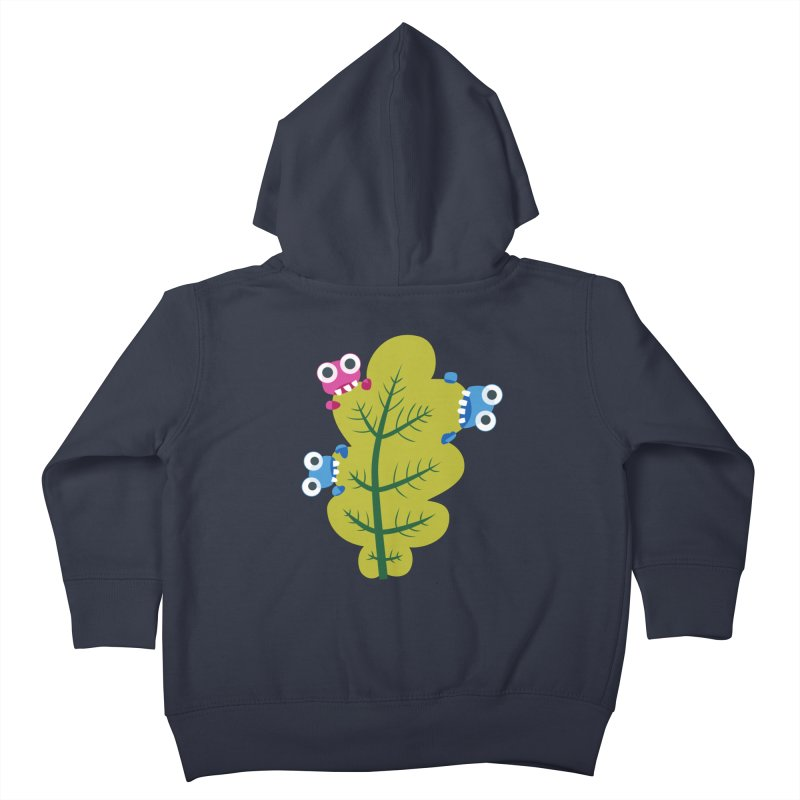 Cute Green Leaf Eaters Kids Toddler Zip-Up Hoody by Boriana's Artist Shop