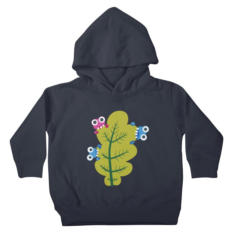 Cute Green Leaf Eaters Kids Toddler Pullover Hoody by Boriana's Artist Shop