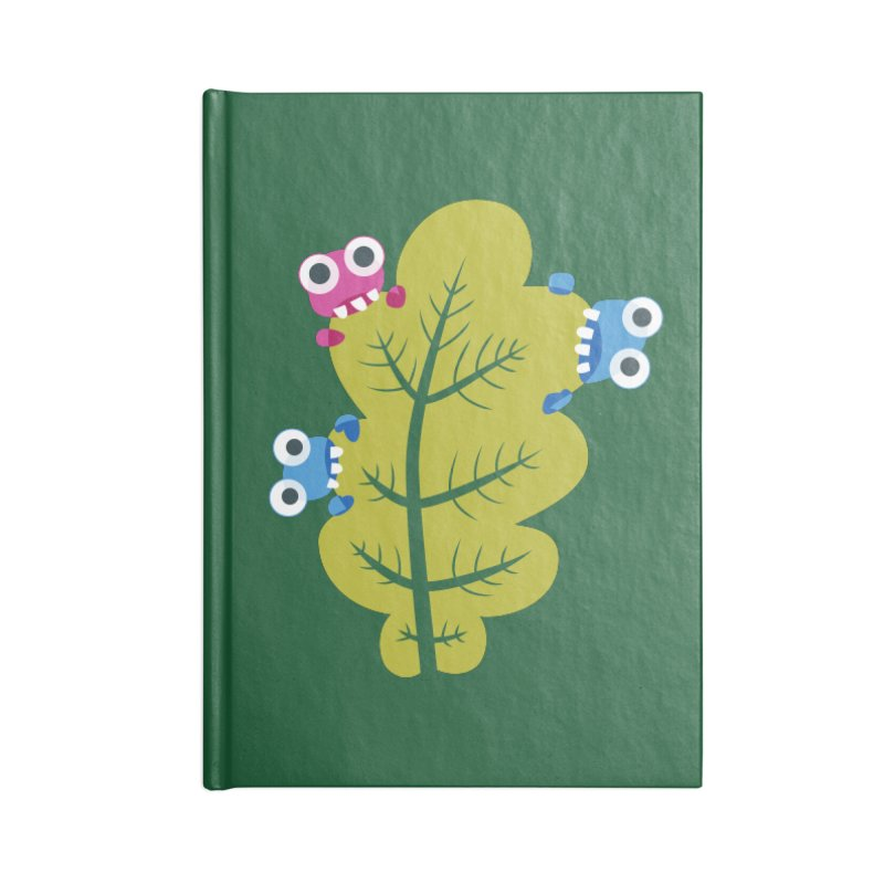 Cute Green Leaf Eaters Accessories Blank Journal Notebook by Boriana's Artist Shop