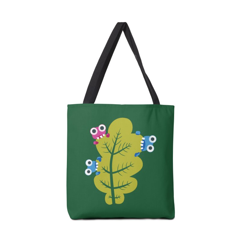 Cute Green Leaf Eaters Accessories Bag by Boriana's Artist Shop