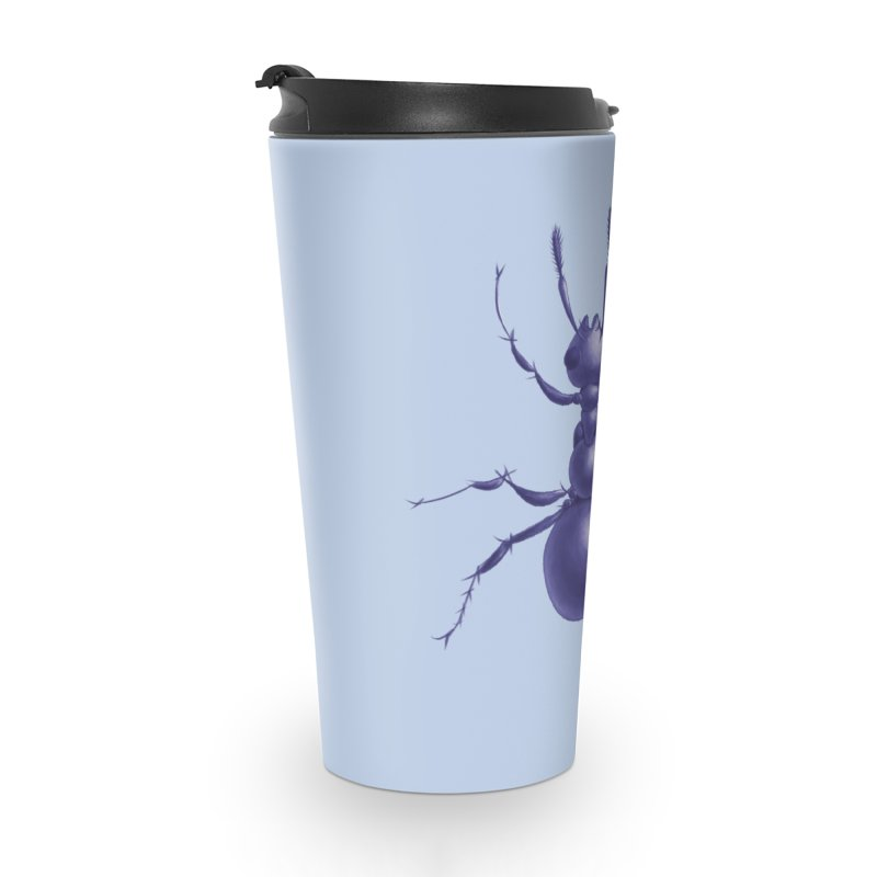 Purple Ant Digital Drawing Accessories Travel Mug by Boriana's Artist Shop