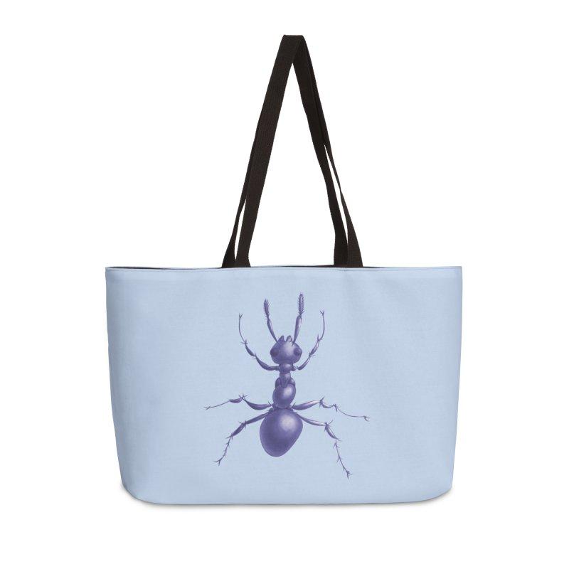 Purple Ant Digital Drawing Accessories Weekender Bag Bag by Boriana's Artist Shop
