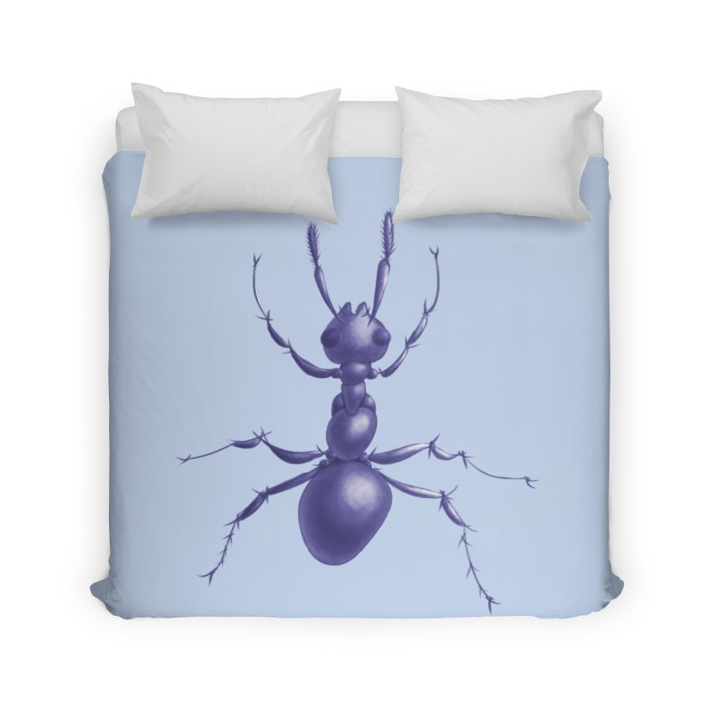 Purple Ant Digital Drawing Home Duvet by Boriana's Artist Shop