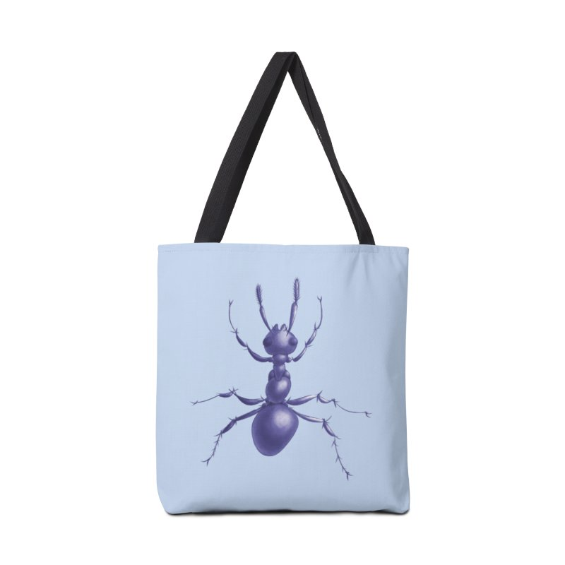 Purple Ant Digital Drawing Accessories Tote Bag Bag by Boriana's Artist Shop
