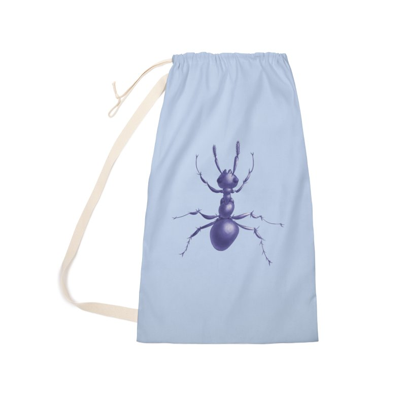Purple Ant Digital Drawing Accessories Laundry Bag Bag by Boriana's Artist Shop