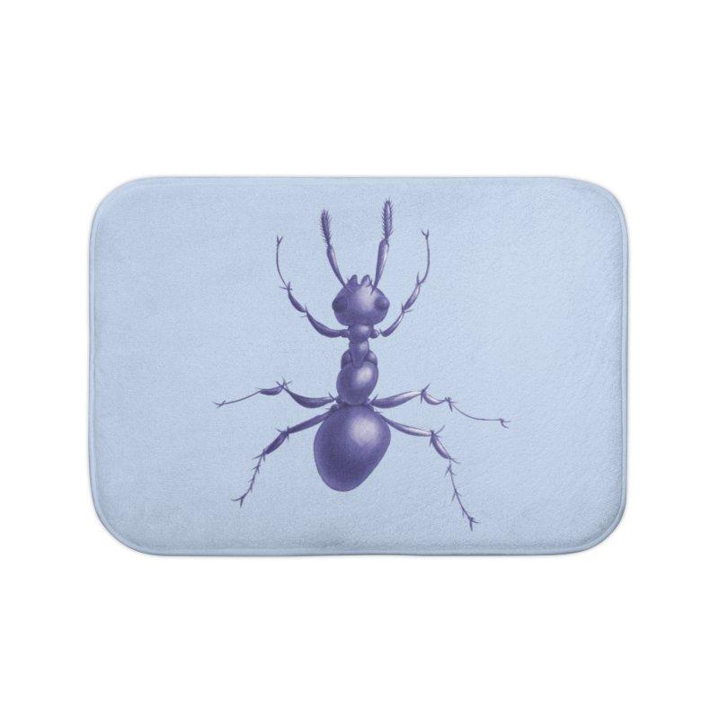 Purple Ant Digital Drawing Home Bath Mat by Boriana's Artist Shop