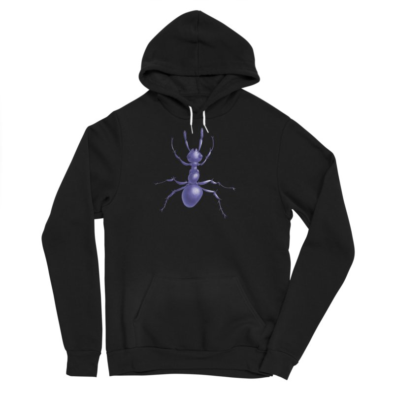 Purple Ant Digital Drawing Men's Sponge Fleece Pullover Hoody by Boriana's Artist Shop