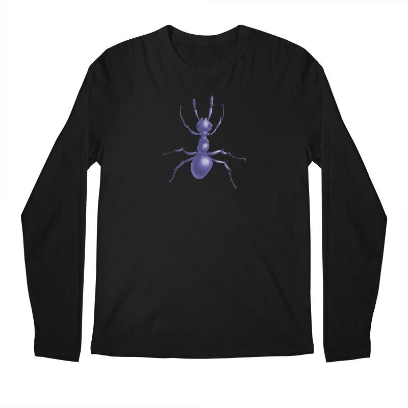 Purple Ant Digital Drawing Men's Longsleeve T-Shirt by Boriana's Artist Shop
