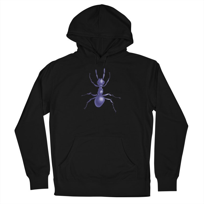Purple Ant Digital Drawing Women's French Terry Pullover Hoody by Boriana's Artist Shop