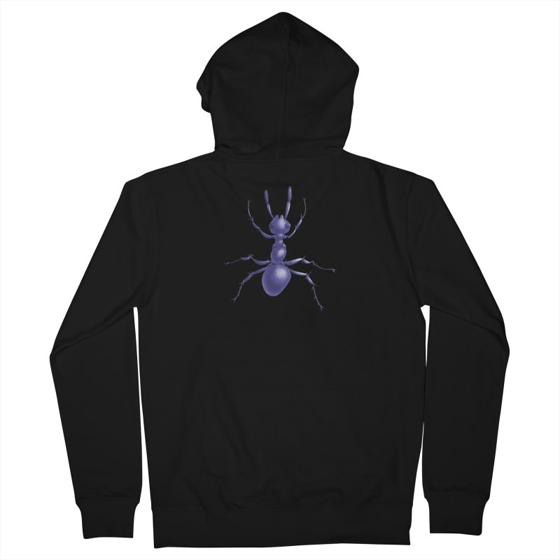 Purple Ant Digital Drawing Women's French Terry Zip-Up Hoody by Boriana's Artist Shop