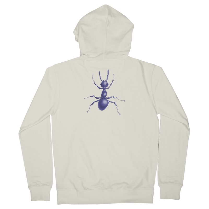 Purple Ant Digital Drawing Men's French Terry Zip-Up Hoody by Boriana's Artist Shop