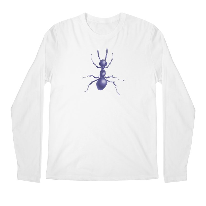 Purple Ant Digital Drawing Men's Regular Longsleeve T-Shirt by Boriana's Artist Shop