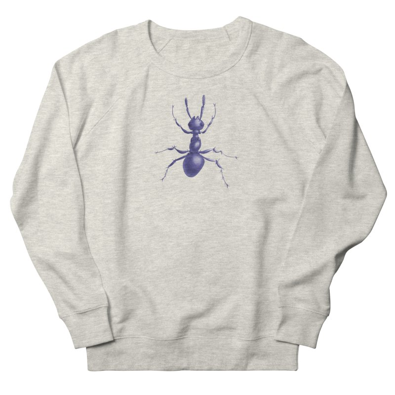 Purple Ant Digital Drawing Men's French Terry Sweatshirt by Boriana's Artist Shop
